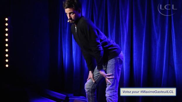 Maxime Gasteuil grand gagnant du concours LCL Stand-Up